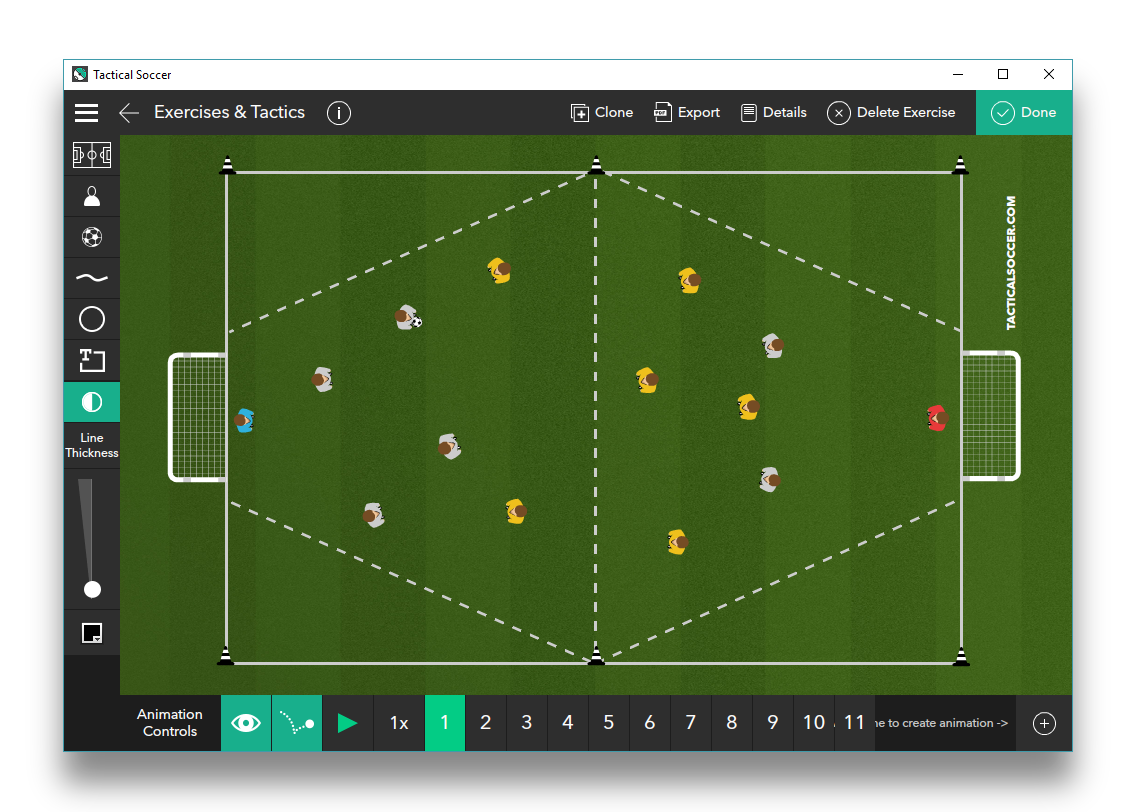 Small Sided Finishing Game