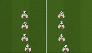 Line Dribble 1 - Tactical Soccer