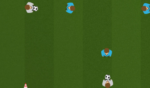 Touchline Passing 3 - Tactical Soccer